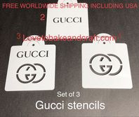 Gucci stencil, Gucci cake, Gucci cupcake, Set of 3. Free worldwide shipping